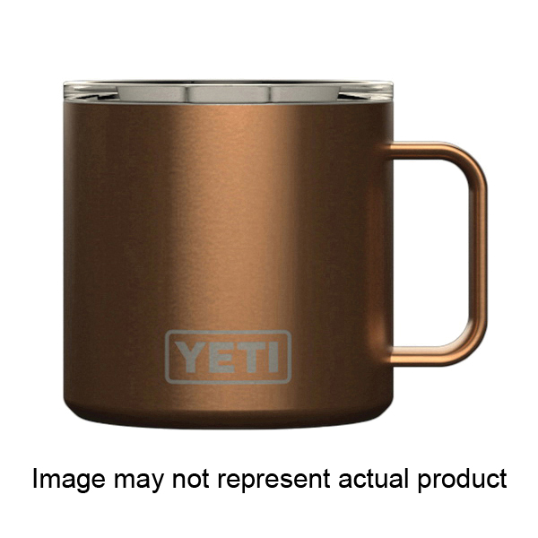 Picture of YETI Rambler 21071500202 Mug with Standard Lid, 14 oz Capacity, MagSlider Lid, 18/8 Stainless Steel, Coral