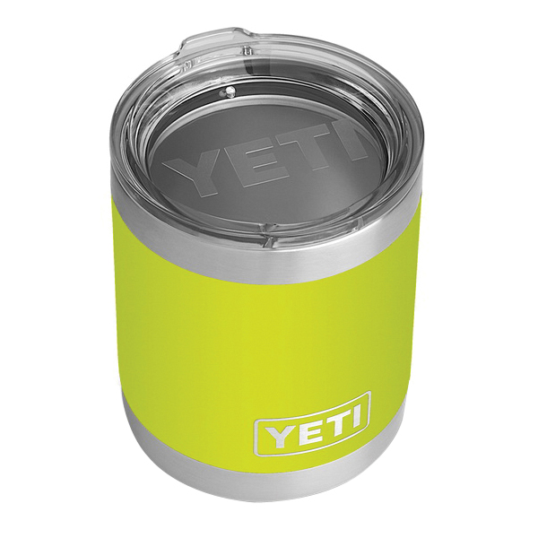 Picture of YETI Rambler 21071500219 Lowball with Standard Lid, 10 oz Capacity, MagSlider Lid, 18/8 Stainless Steel, Chartreuse