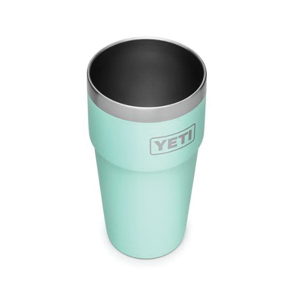 Picture of YETI RAMBLER 21071300240 Stackable Pint Tumbler, 16 oz Capacity, Stainless Steel, Seafoam, Insulated
