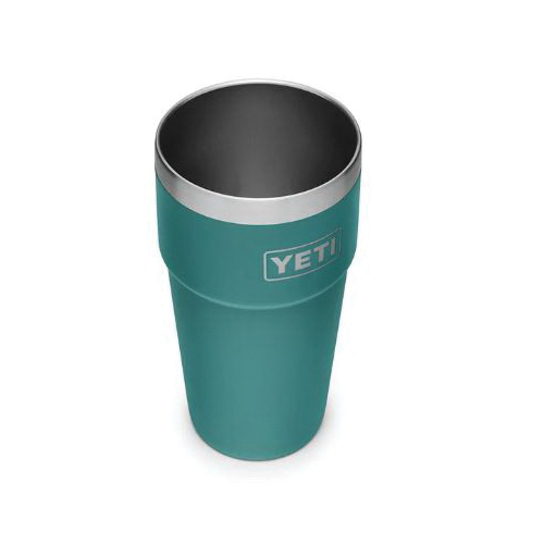 Picture of YETI RAMBLER 21071300253 Stackable Pint Tumbler, 16 oz Capacity, Stainless Steel, River Green, Insulated