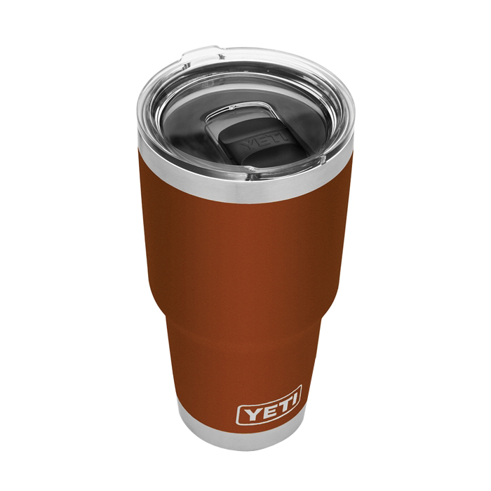 Picture of YETI Rambler 21070070051 Tumbler with Lid, 30 oz Capacity, MagSlider Lid, 18/8 Stainless Steel, Clay, Insulated