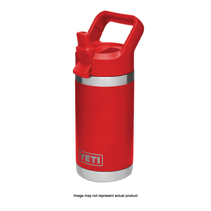Picture of YETI Rambler Jr 21071500019 Kid's Bottle, 12 oz Capacity, Stainless Steel, Crimson Red