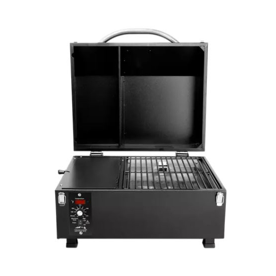 Picture of Traeger TFT17LLA Portable Electric Grill, 173 sq-in Primary Cooking Surface, Smoker Included: Yes, Wood Body