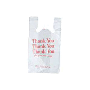 Picture of Hilex Poly QuikMate EZ 8023997 T-Shirt Bag, 7 in L, 12 in W, Plastic, White