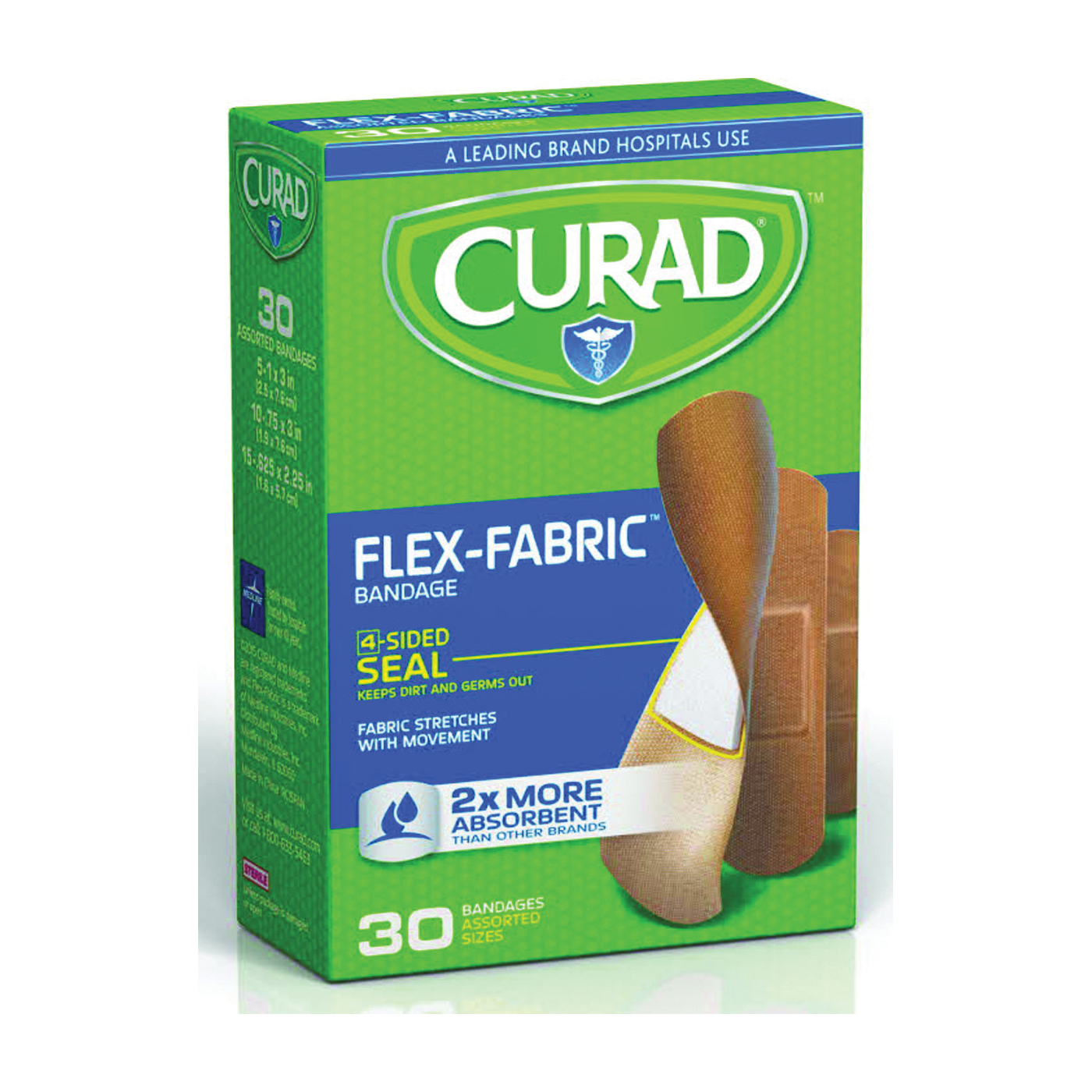 Picture of CURAD Flex-Fabric CUR47314RB Adhesive Bandage, Fabric Bandage, 24, Case