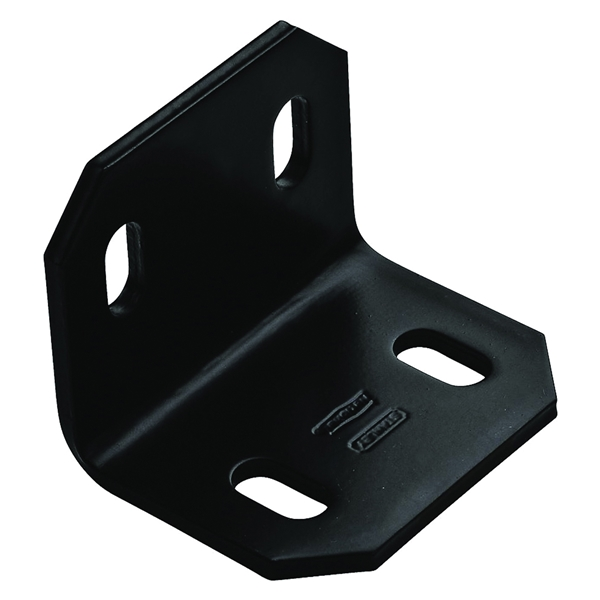 Picture of National Hardware 1217BC Series N351-495 Corner Brace, 2.4 in L, 3 in W, 2.4 in H, Steel, 3/16 Thick Material
