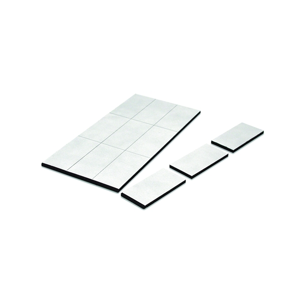 Picture of Magnet Source 07010 Magnetic Disc and Tape Strip, Ferrite/Rubber Polymer, 3 in L, 2 in W, 0.06 in H