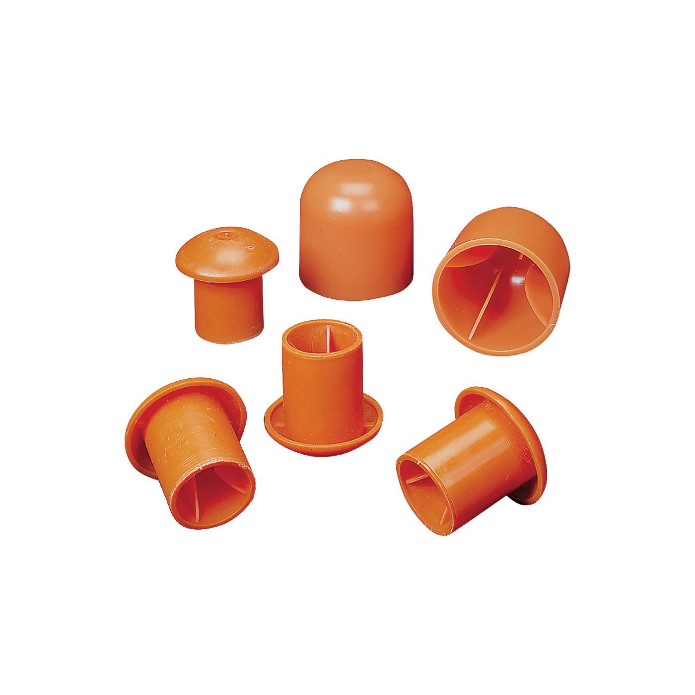 Picture of MUTUAL INDUSTRIES 14640-2 Rebar Cap, 2 in Dia Rebar, Orange