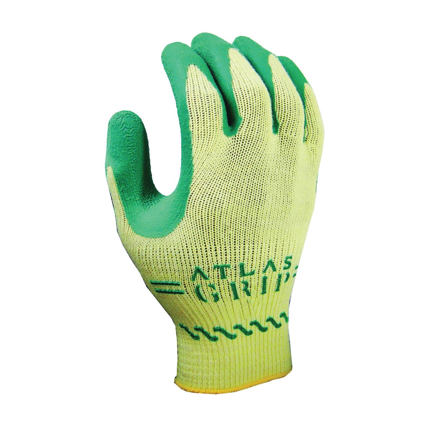 Picture of ATLAS 310GXS-06.RT Ergonomic Protective Gloves, XS, Knit Wrist Cuff, Green/Yellow