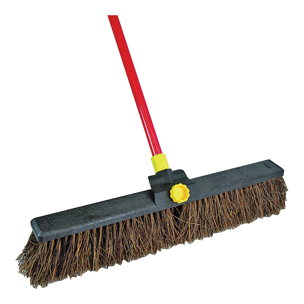 Picture of Quickie 00636 Push Broom, 24 in Sweep Face, Palmyra Fiber Bristle, Steel Handle