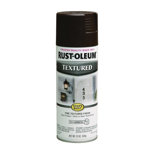 Picture of RUST-OLEUM STOPS RUST 241255 Textured Spray Dark Brown, Solvent-Like, Dark Brown, 12 oz, Aerosol Can