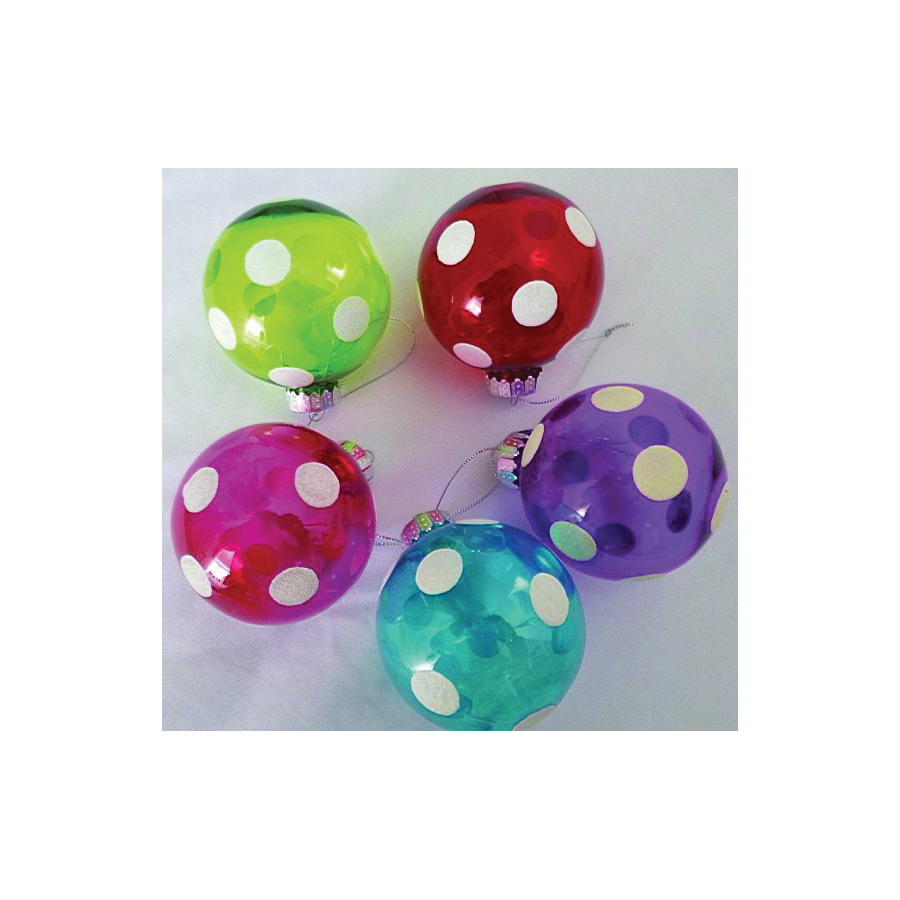Picture of Holidaybasix C-J14031 Ornament Painted Ball, 83 mm H