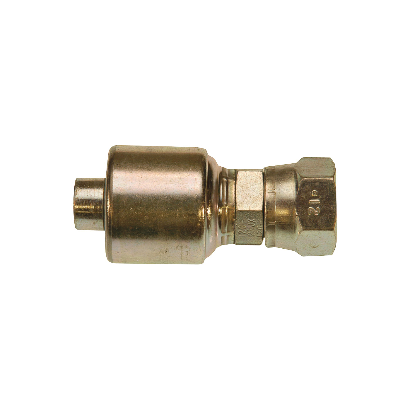 Picture of GATES MegaCrimp G25170-0608 Hose Coupling, 3/4-16, Crimp x JIC, Steel, Zinc