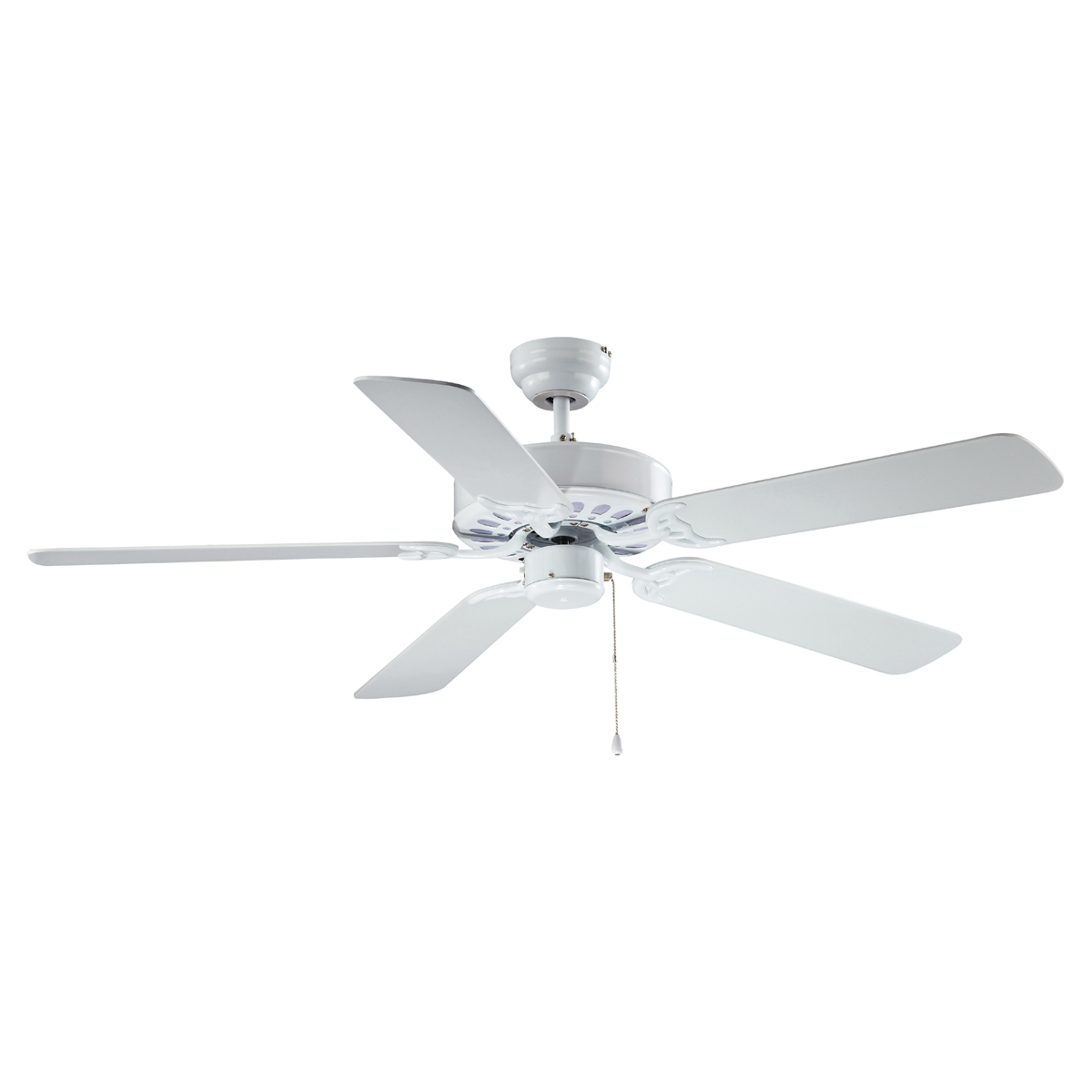 Picture of Boston Harbor 52-CASA-ES-EN-WH Ceiling Fan, 0.8 A, 120 V, 5-Blade, 52 in Sweep, 2940 cfm Air, White Housing