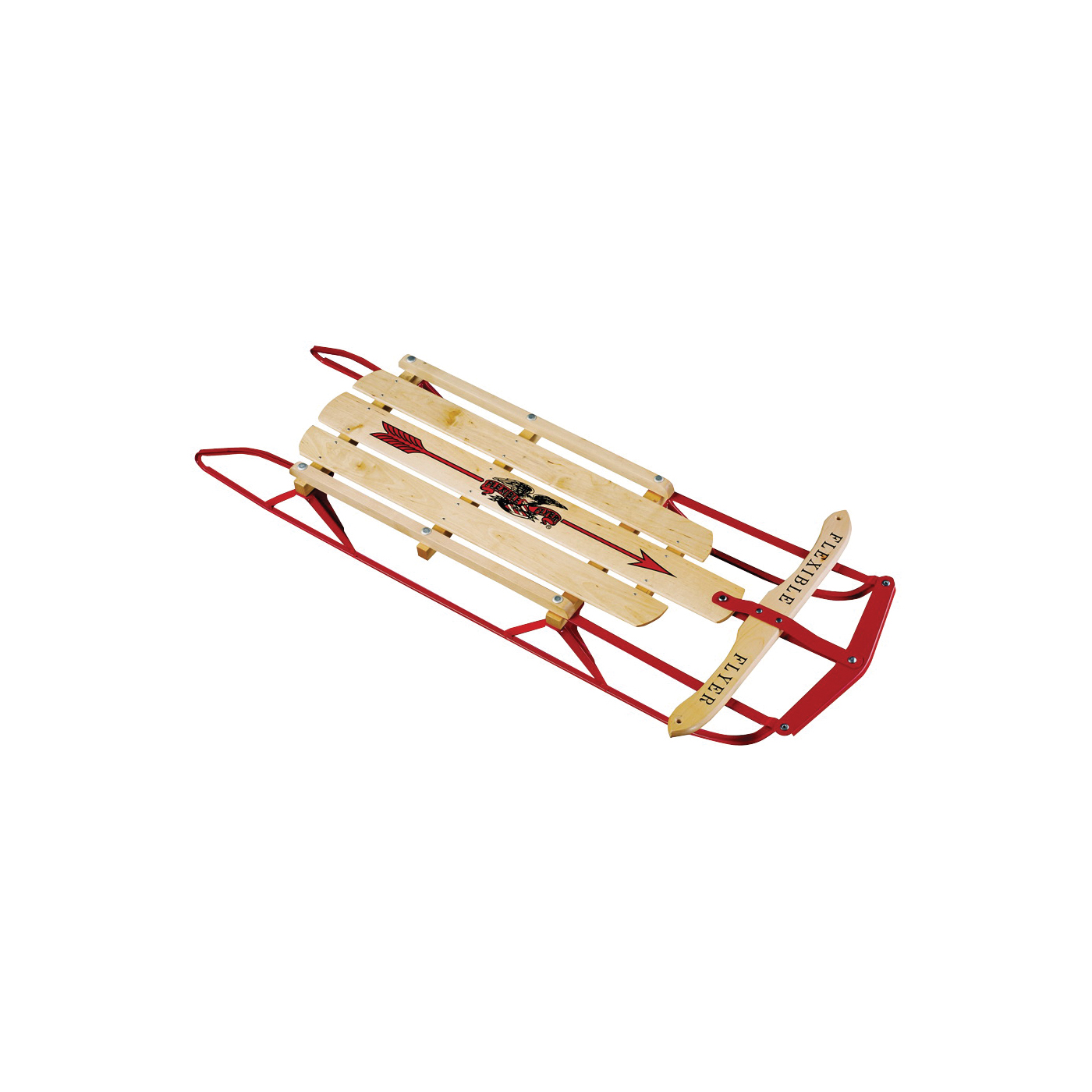 Picture of PARICON 1048 Runner Sled, Flexible Flyer, 5-Years Old and Up Capacity, Steel, Red