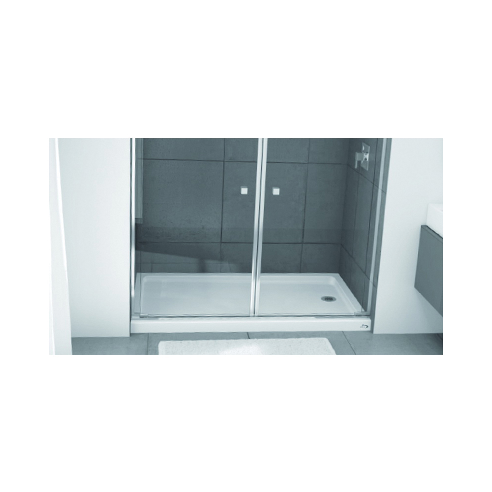 Picture of BOOTZ 010-1100-00 Shower Base, 60 in L, 32 in W, 5 in H, Steel, White, Alcove Installation