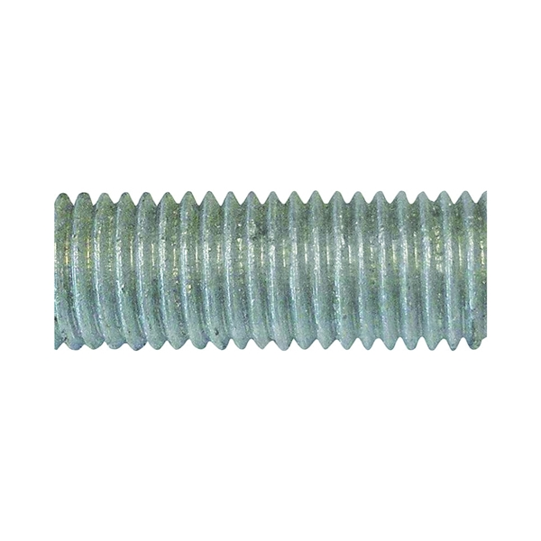 Picture of PFC 770055-BR Threaded Rod, 1/2-13 in Thread, 10 ft L, A Grade, Carbon Steel, Galvanized, NC Thread