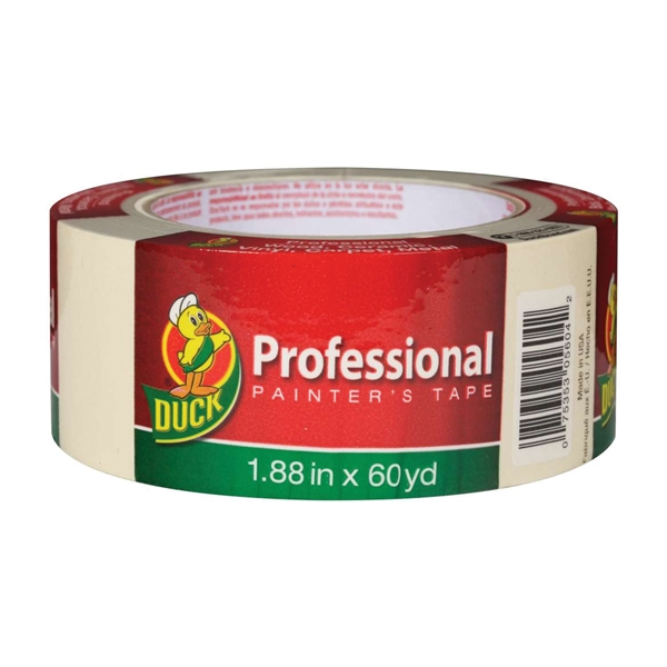Picture of Duck Professional 1361966 Painter's Tape, 60 yd L, 1.88 in W, Beige, 1, Roll