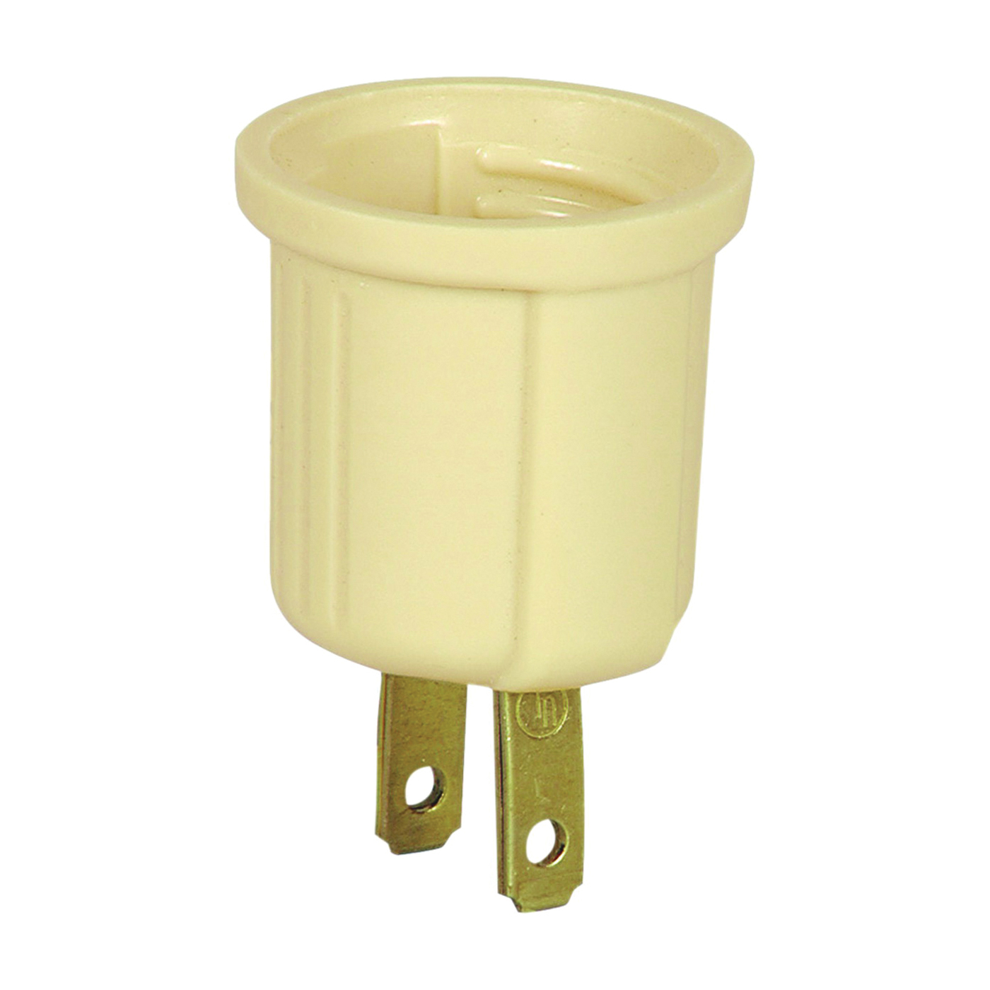 Picture of Eaton Wiring Devices BP738V Lampholder Adapter, 660 W, 2-Outlet, Thermoplastic, Ivory