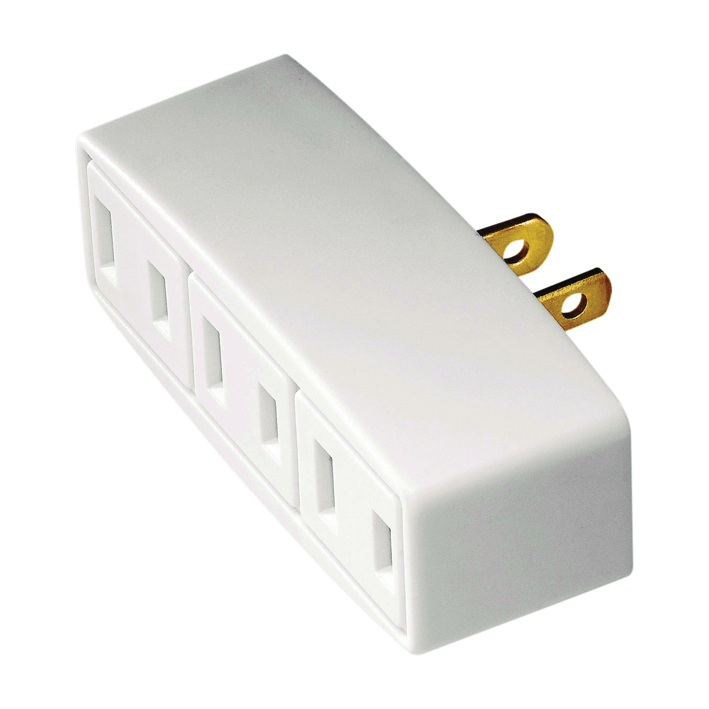 Picture of Eaton Wiring Devices BP1747W Outlet Tap, 2-Pole, 15 A, 125 V, 3-Outlet, NEMA: 1-15R