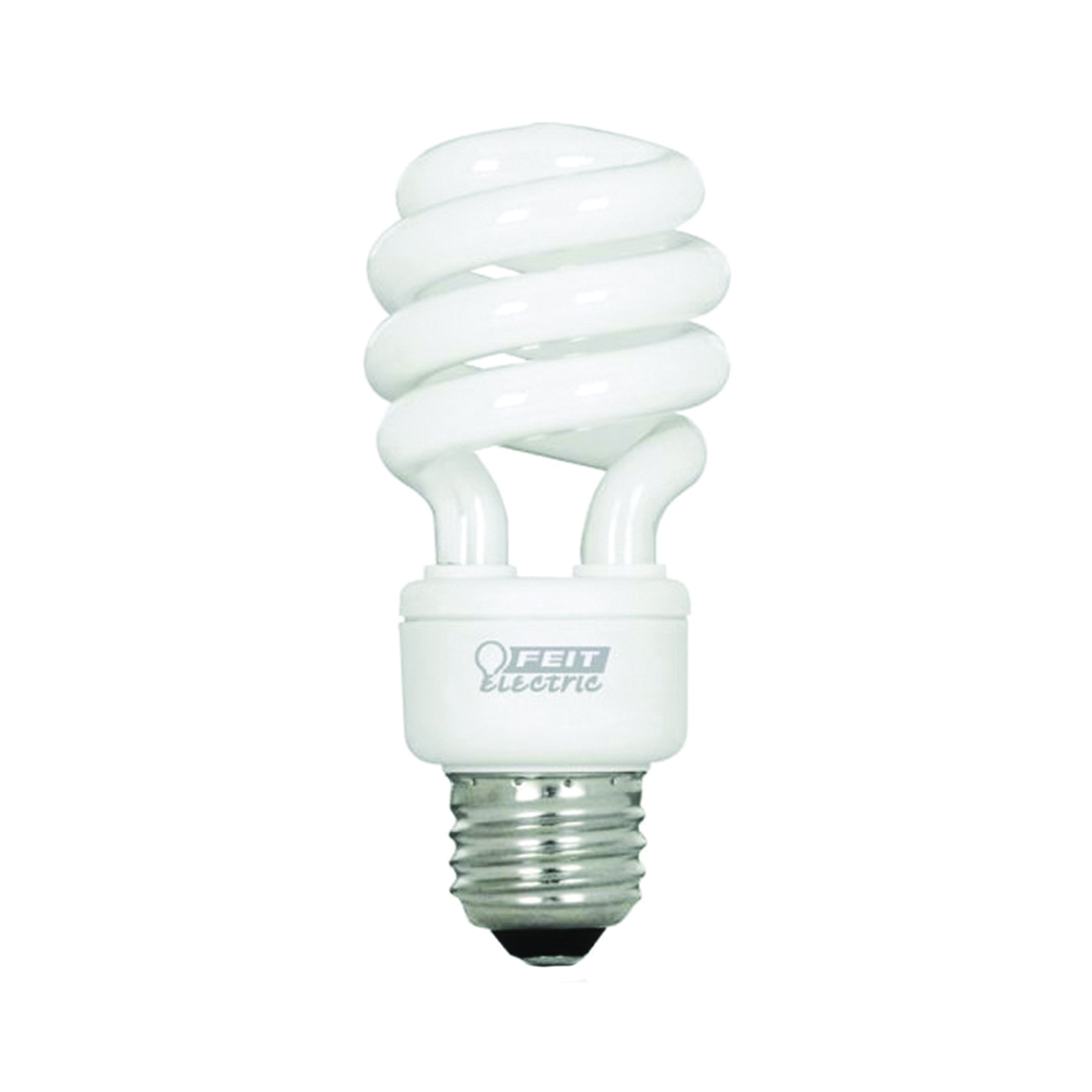Picture of Feit Electric BPESL13T/D Compact Fluorescent Light, 13 W, Spiral Lamp, Medium E26 Lamp Base, 800 Lumens
