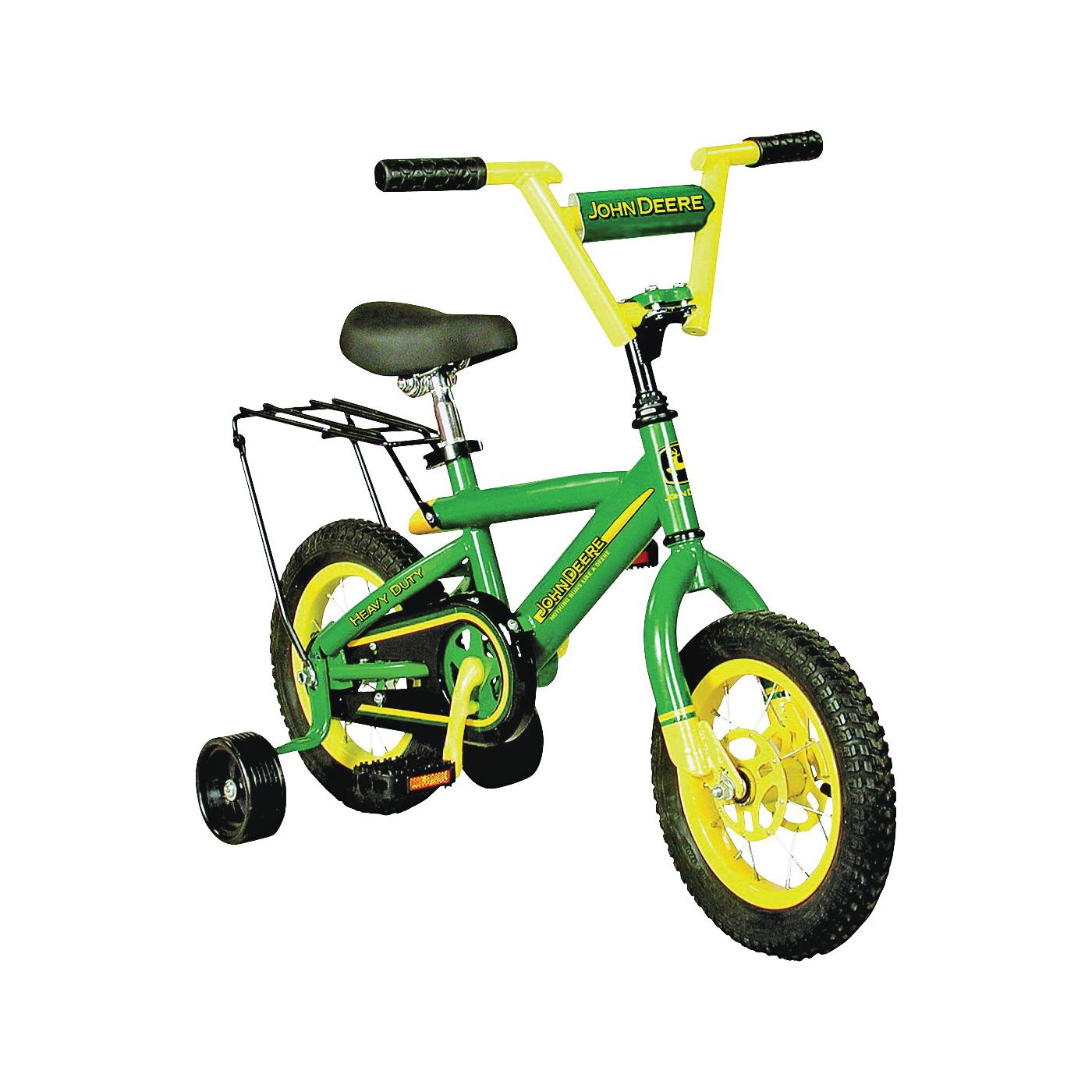Picture of John Deere Toys 34938 Bicycle, > 3 years, Steel Frame, 12 in Dia Wheel, Green