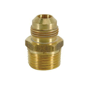 Picture of BrassCraft 2294M Series FRC13-6-8 Flare Male Adapter, 3/8 x 1/2 in, Flare x MIP, Rough
