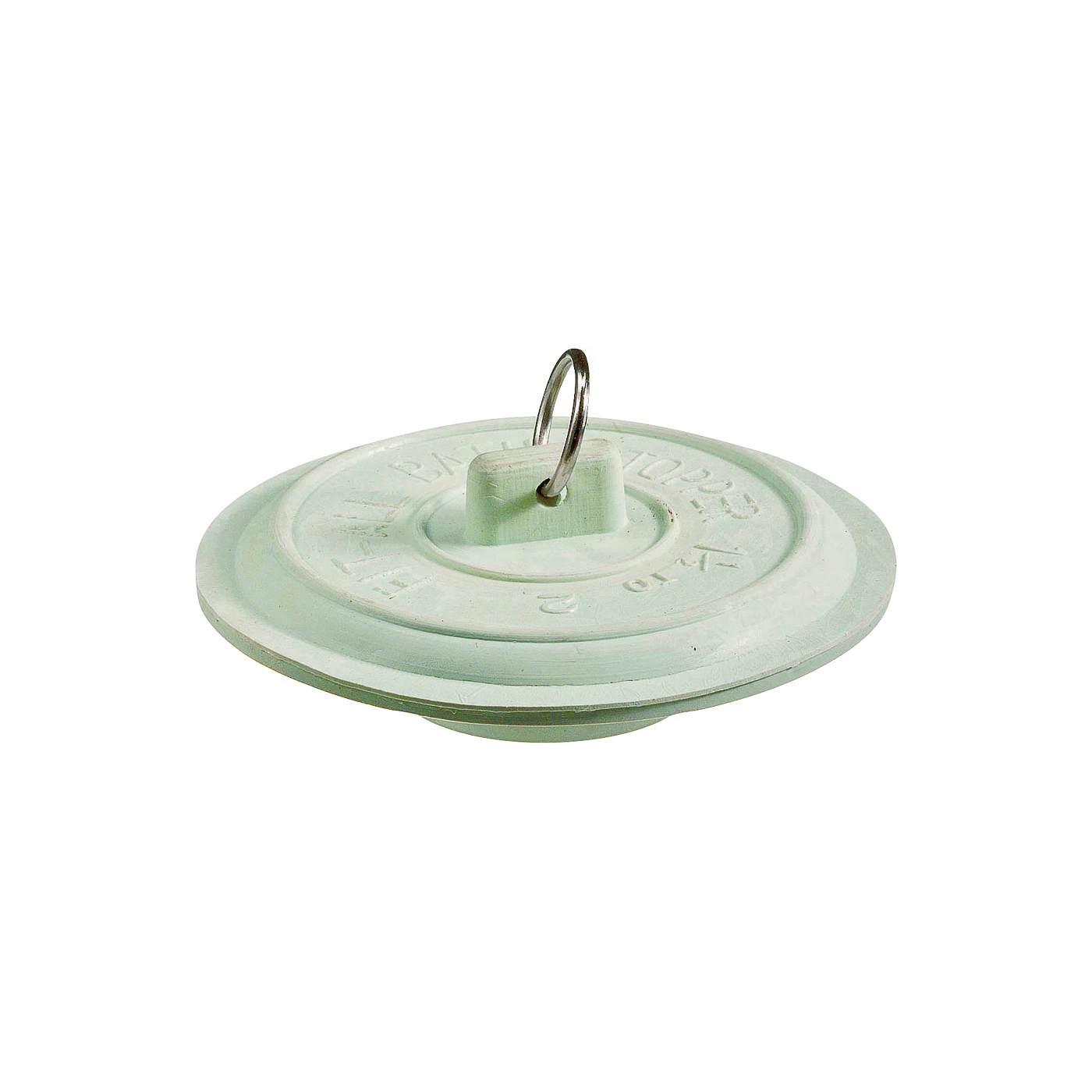 Picture of Plumb Pak PP820-4 Tub Stopper with Ring, Rubber, White, For: Laundry and Bathtubs with 1-1/2 to 2 in Drain