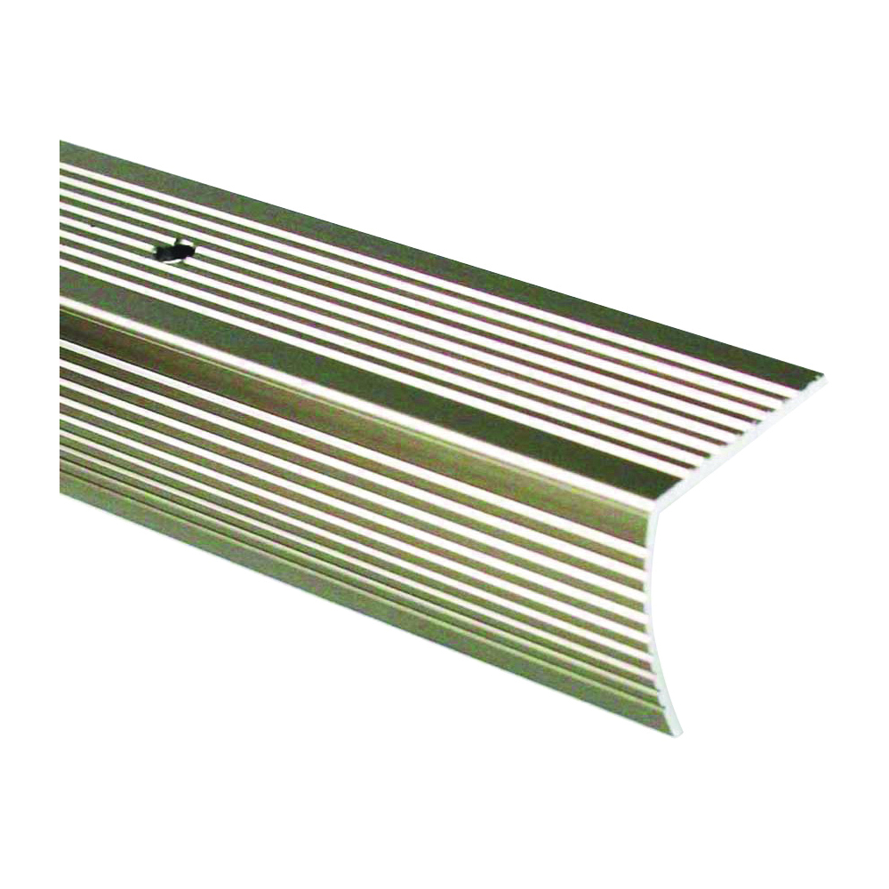 Picture of M-D 43878 Stair Edging, 36 in L, 1.63 in W, Aluminum, Pewter