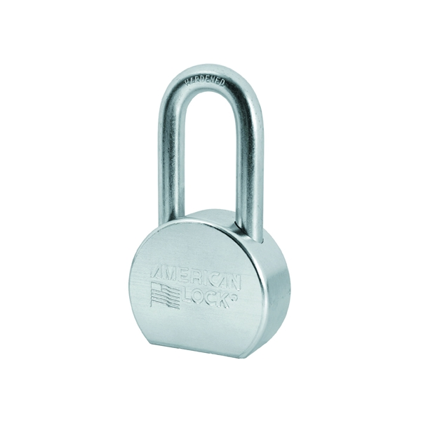 Picture of American Lock A703KA Padlock, Keyed Alike Key, 7/16 in Dia Shackle, 2 in H Shackle, Steel Body, Zinc