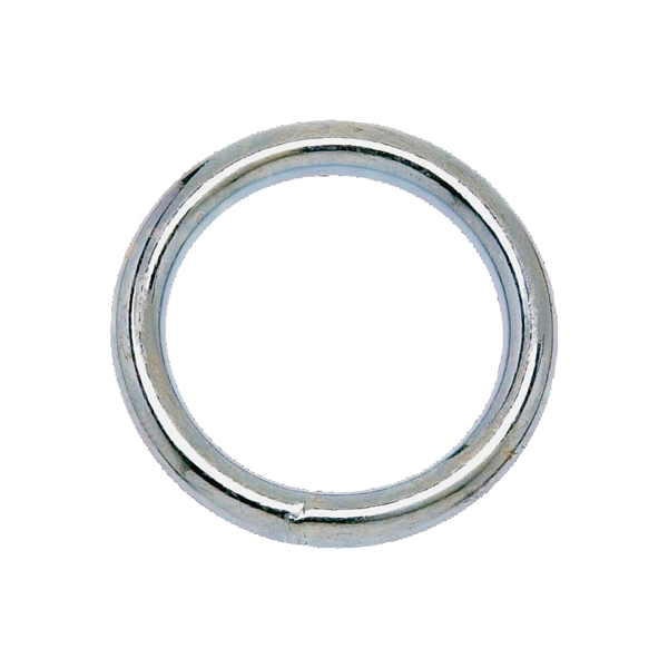 Picture of Campbell T7665032 Welded Ring, 200 lb Working Load, 1-1/4 in ID Dia Ring, #7 Chain, Steel, Nickel