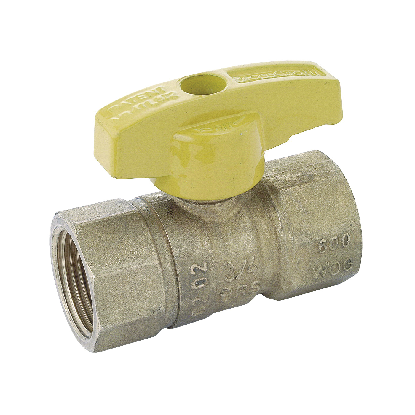 Picture of BrassCraft PSBV503-8 Gas Ball Valve, 1/2 in Connection, FIP, 5 psi Pressure, Brass Body