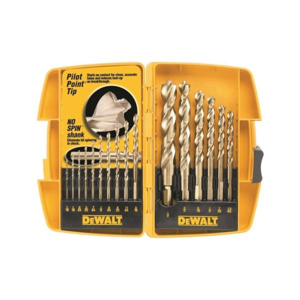 Picture of DeWALT DW1956 Drill Bit Set, High Performance, 16 -Piece, Steel, Ferrous Oxide