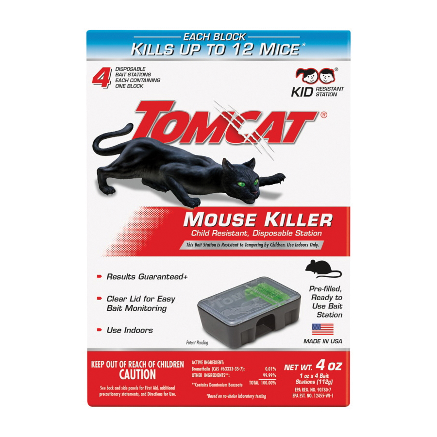Picture of Tomcat 0371610 Disposable Mouse Bait Station, 1 oz Bait, Emerald Green