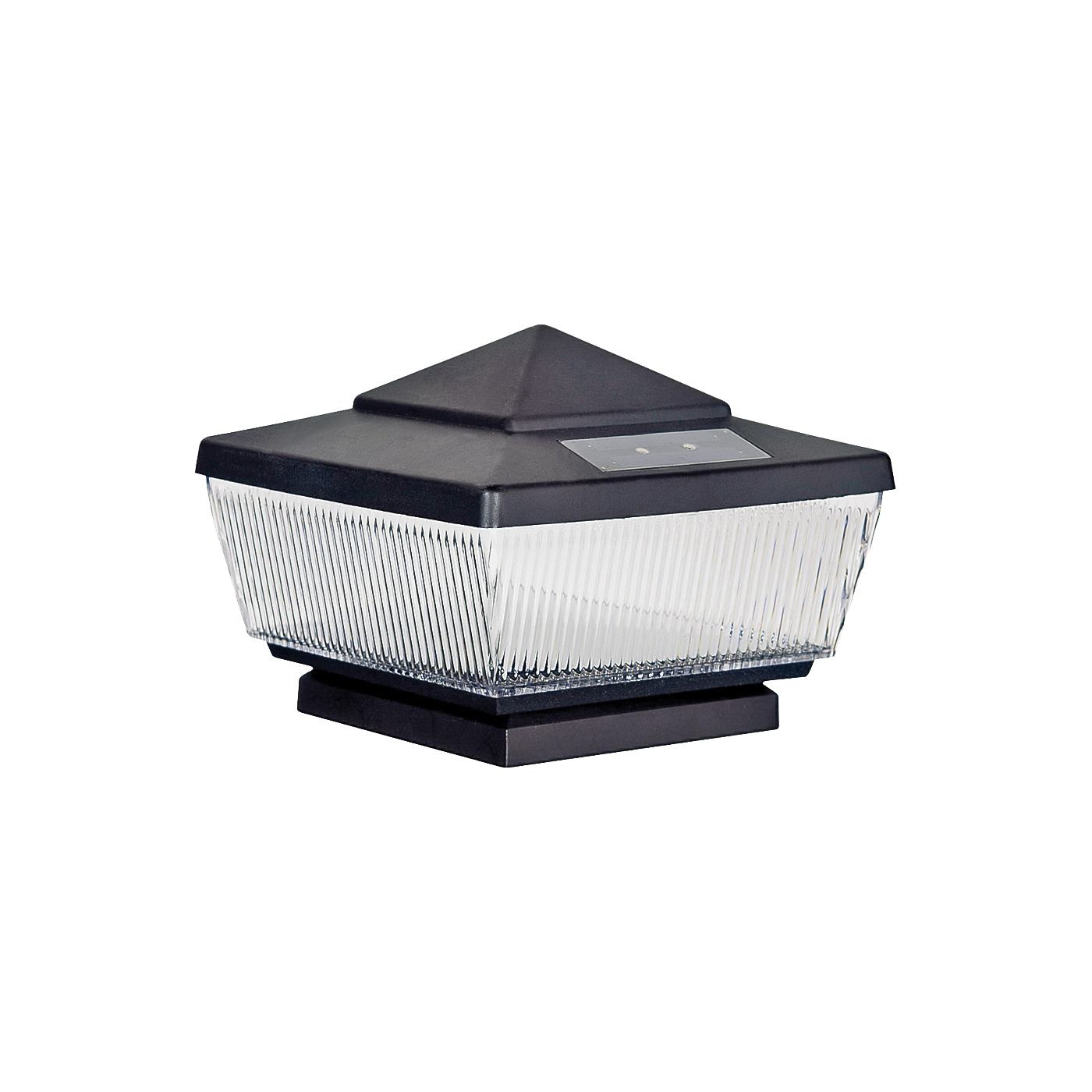Picture of Boston Harbor QPP3-R4-BK-B1 Solar Light Post Cap, Black