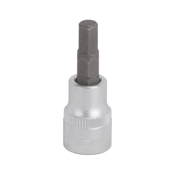 Picture of Vulcan 3506007421 Hex Bit Socket, 7 mm Tip, 3/8 in Drive, Chrome Vanadium