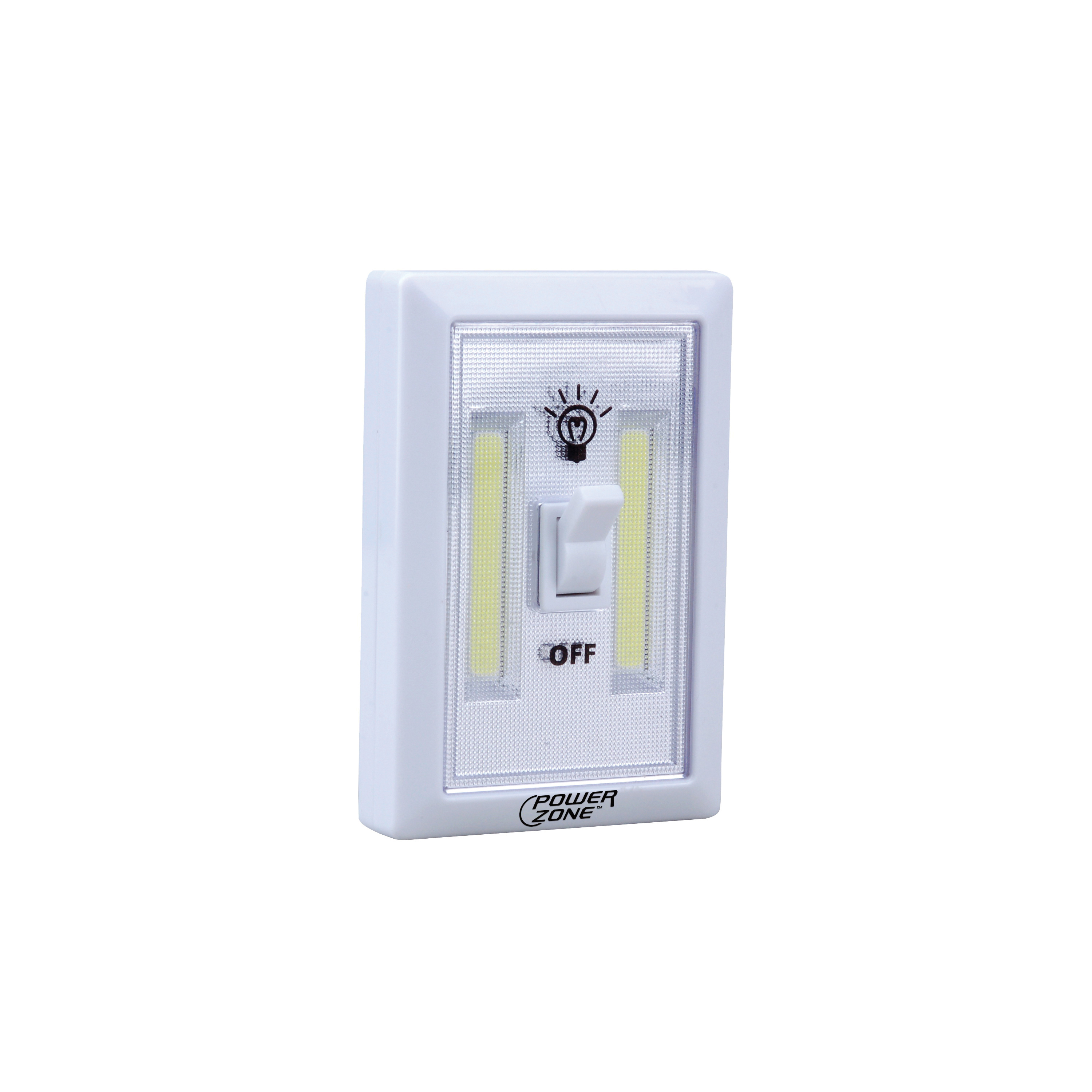 Picture of PowerZone 12532 Cordless Light Switch, LED Lamp, 200 Lumens, Wall Mounting