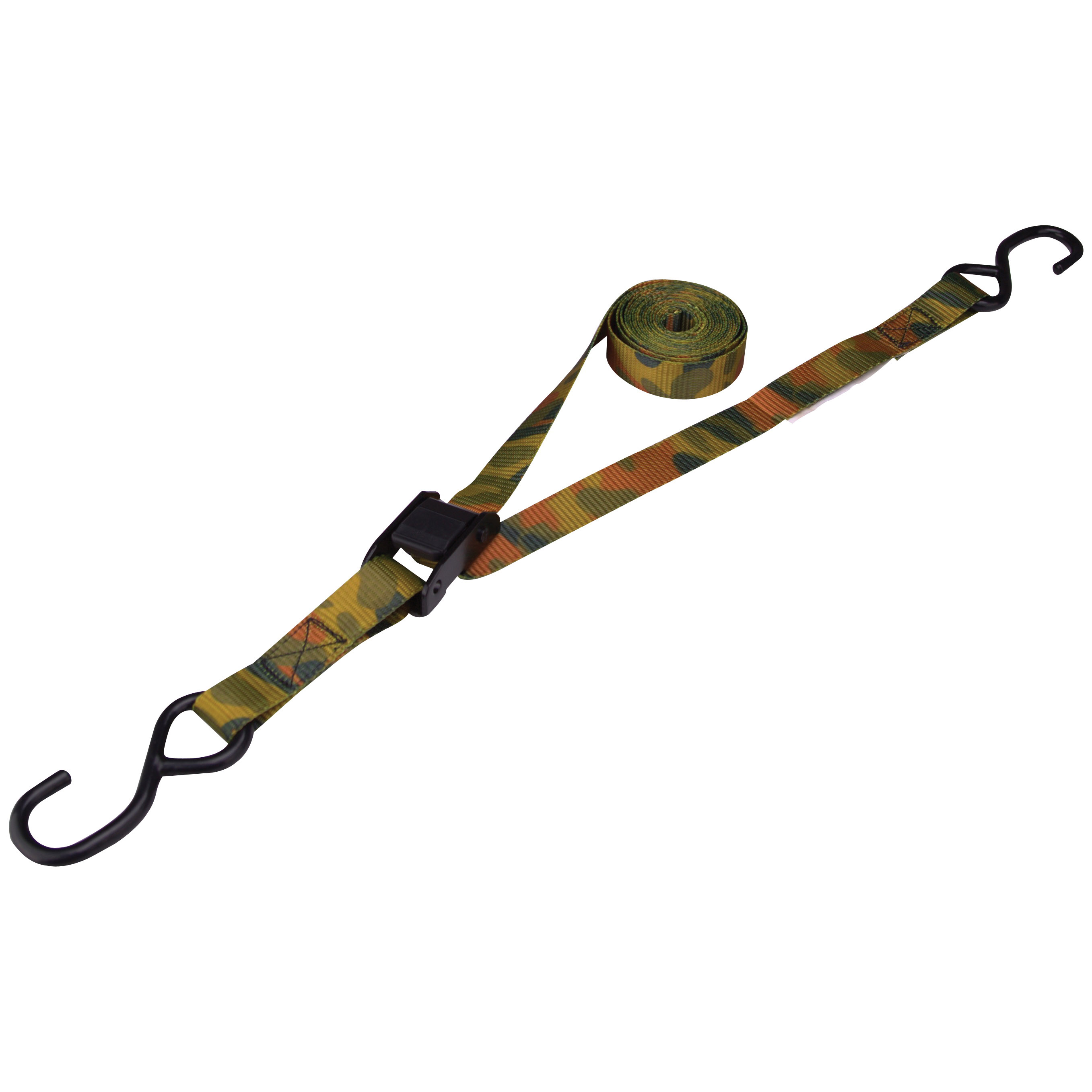 Picture of ProSource FH64068 Tie-Down, 1 in W, 10 ft L, Polyester Webbing, Metal Buckle, Camouflage, 400 lb