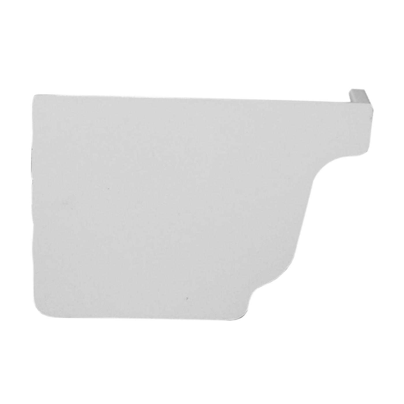 Picture of GENOVA AW102K Gutter End Cap, 3.6 in L, 1.1 in W, Vinyl, White, For: 5 in Repla K Gutter