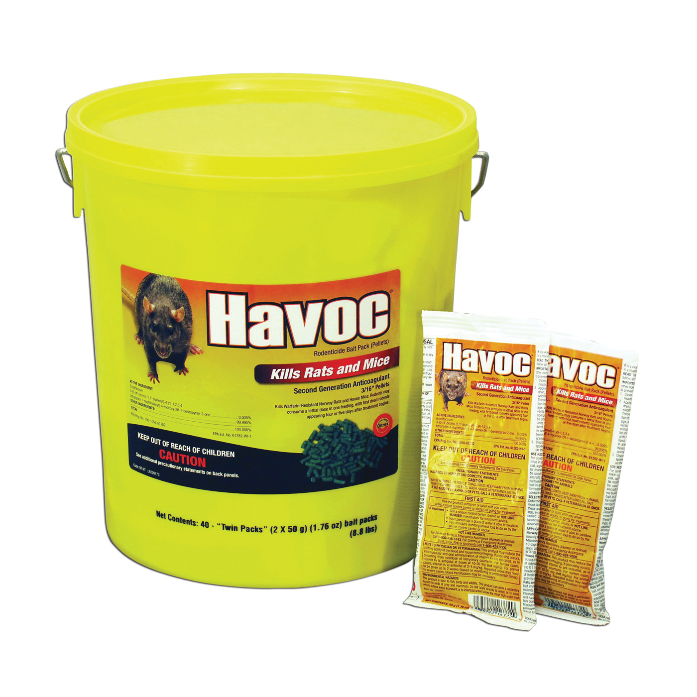 Picture of NEOGEN Havoc 116372 Mouse Killer Pack, Pellet, Pack
