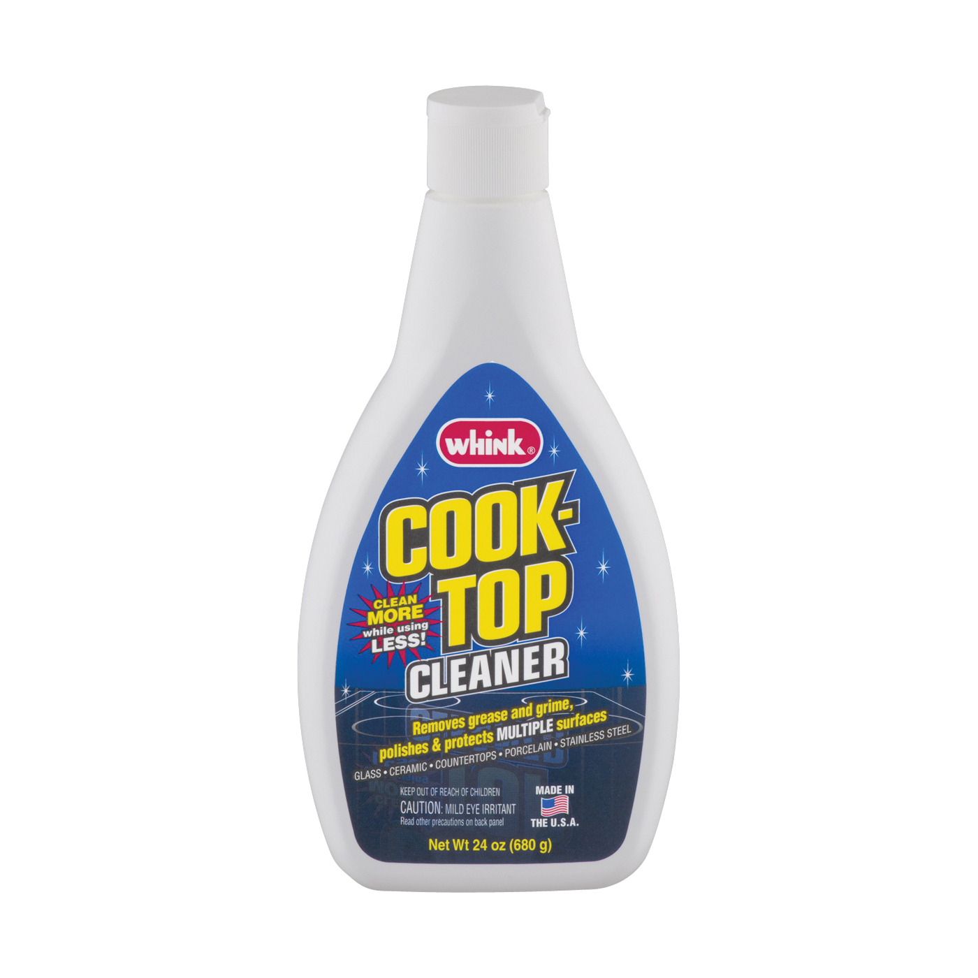 Picture of Whink 33261 Cooktop Cleaner, 24 oz Package, Bottle, Liquid, Citrus, Blue/Green