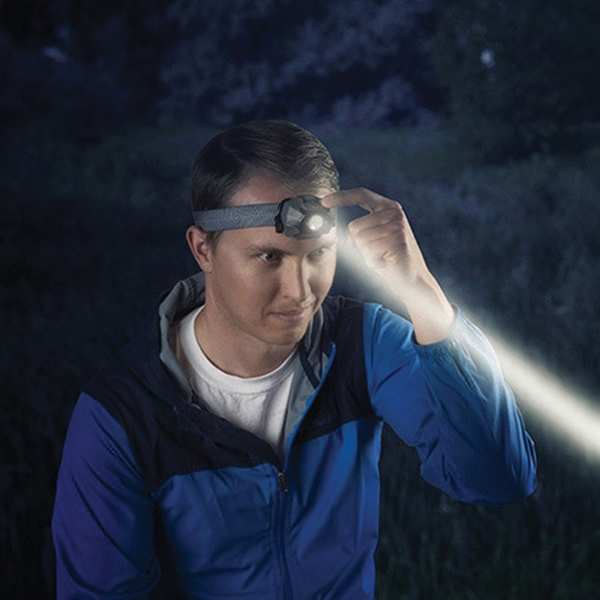 Picture of Nite Ize INOVA STS HLSB-01-R7 Headlamp, AAA Battery, Alkaline Battery, LED Lamp, 265 Lumens, 70 m Beam Distance
