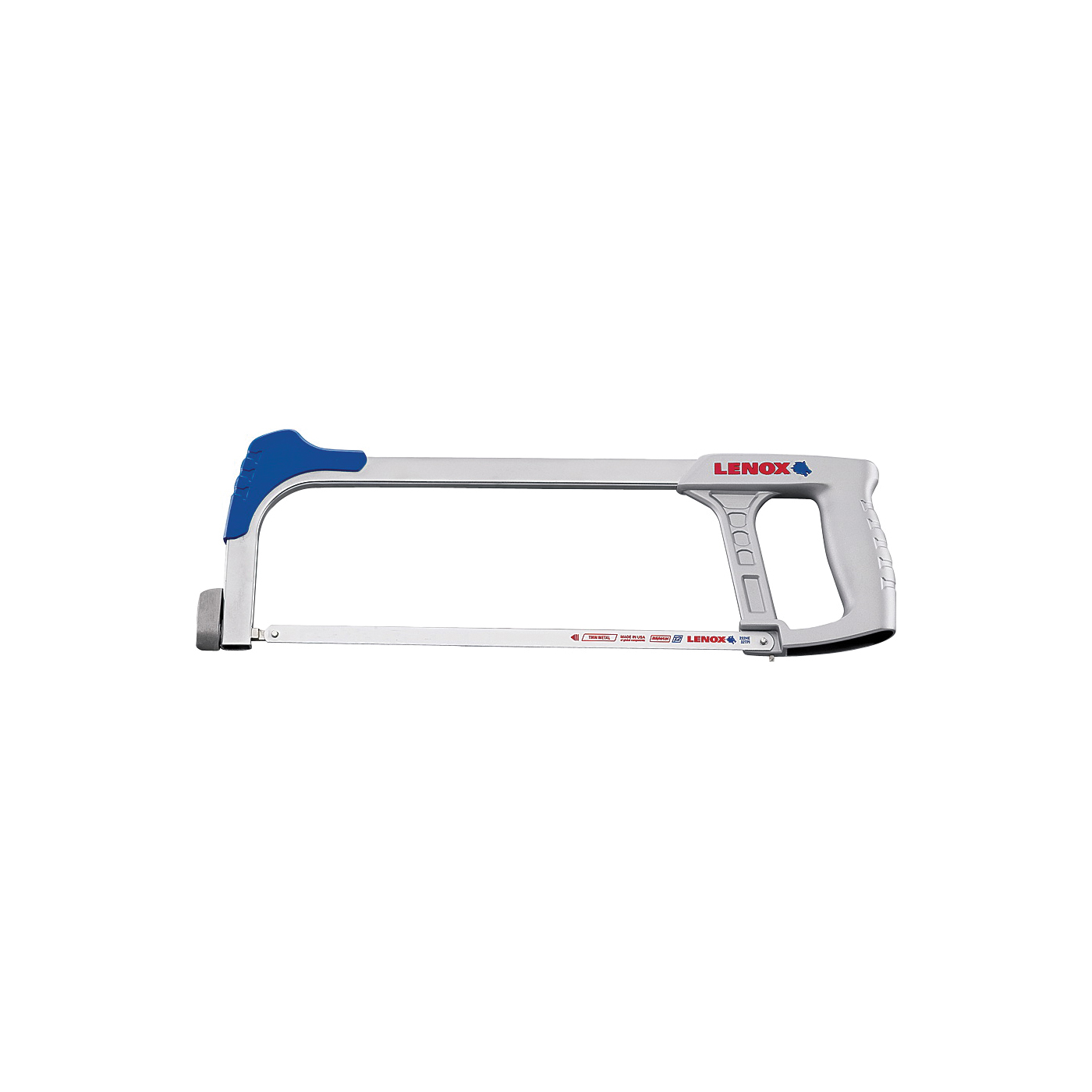 Picture of Lenox 1213188300 Hacksaw Frame, 12 in L Blade, 24 TPI, Steel Blade, 4 in D Throat, Ergonomic Handle, Zinc Handle