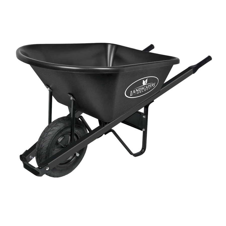 Picture of Landscapers Select 34628 Wheelbarrow, Poly, Pneumatic Wheel, 16 in Wheel