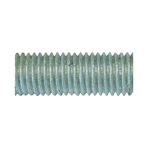 Picture of PFC 770075-BR Threaded Rod, 3/4-10 in Thread, 10 ft L, A Grade, Carbon Steel, Galvanized, NC Thread