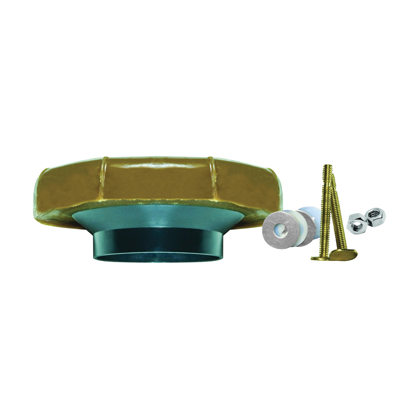 Picture of FLUIDMASTER 7512 Flanged Wax Seal and Bolts, Plastic, For: 3 in and 4 in Waste Lines