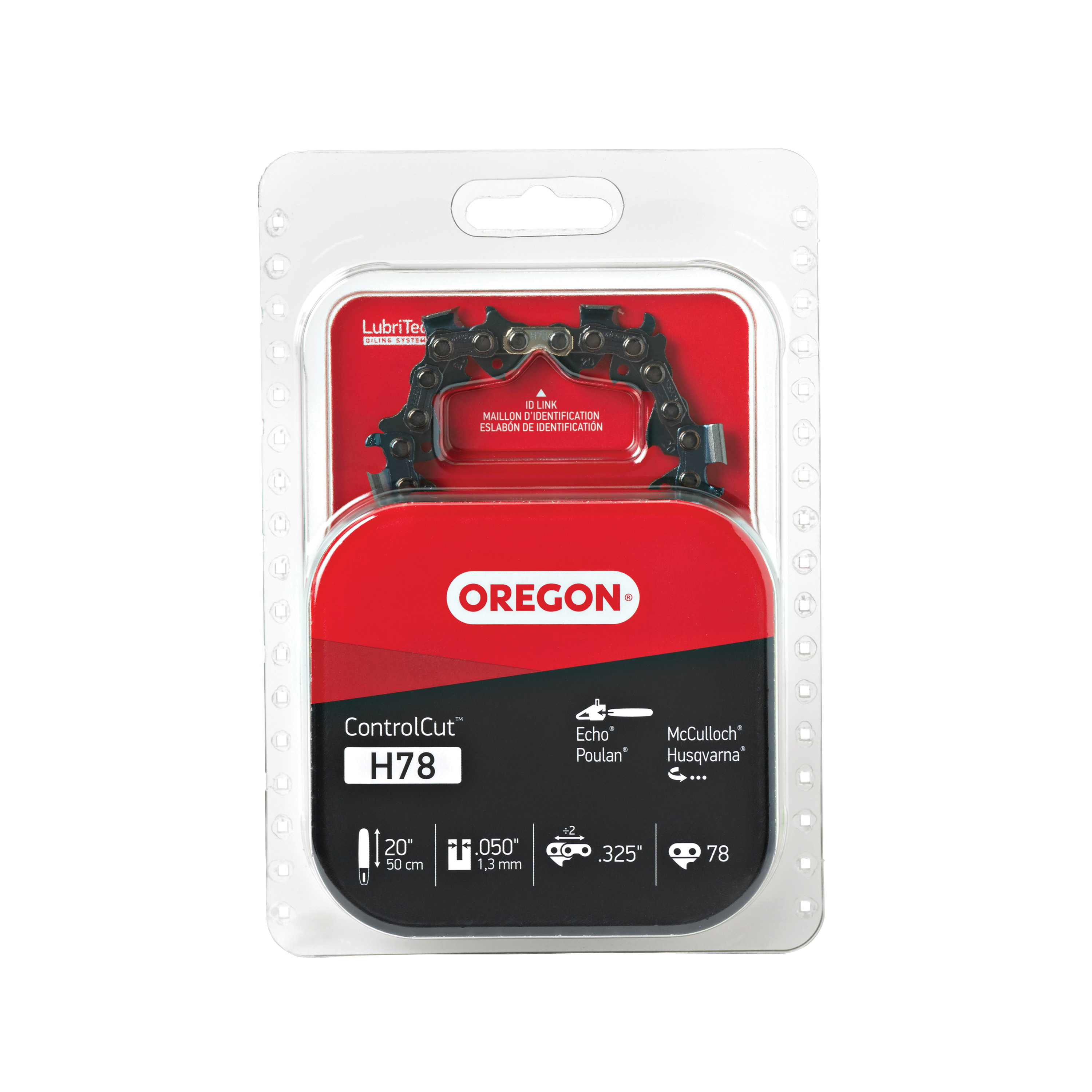 Picture of Oregon H78 Chainsaw Chain, 20 in L Bar, 0.05 Gauge, 0.325 in TPI/Pitch, 78 -Link