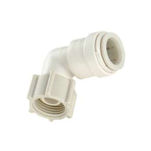 Picture of Watts 3520-0808/P-436 Swivel Elbow, 3/8 in, 1/2 in, 90 deg, Off-White