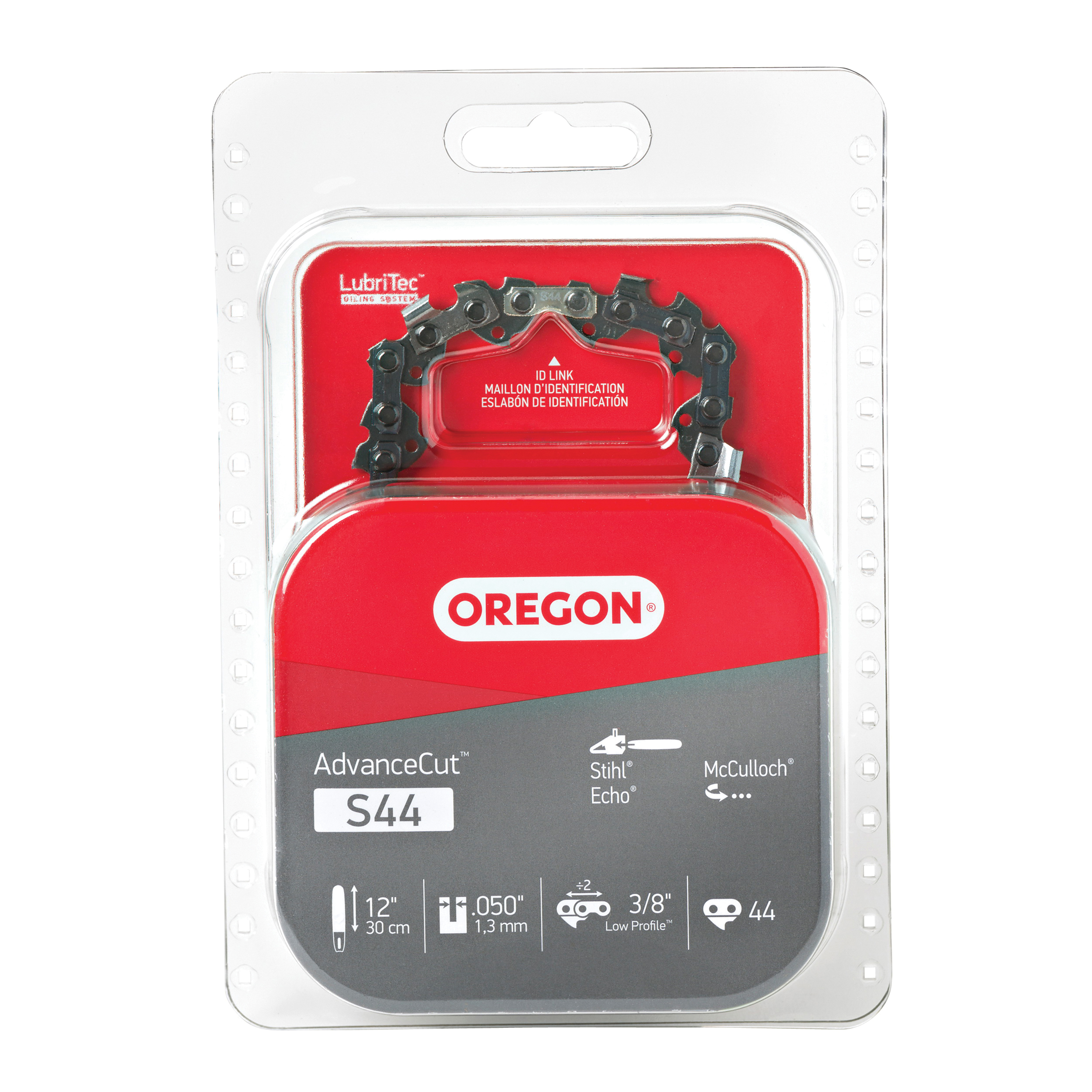 Picture of Oregon S44 Chainsaw Chain, 12 in L Bar, 0.05 Gauge, 3/8 in TPI/Pitch, 44 -Link