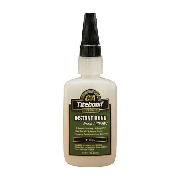 Picture of Titebond 6221 Wood Glue, Clear, 2 oz Package, Bottle